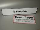 Parkplatzschilder; Hinweisschilder